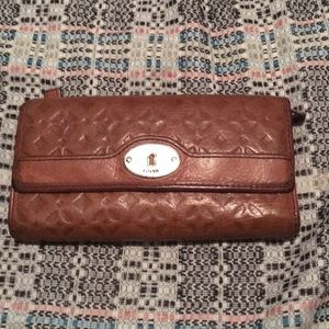Fossil Bags - Embossed Leather Fossil Wallet